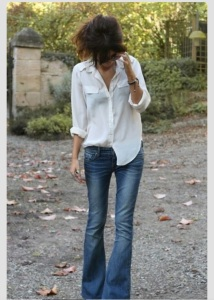 This is my favorite look with any style or color shirt/blouse.