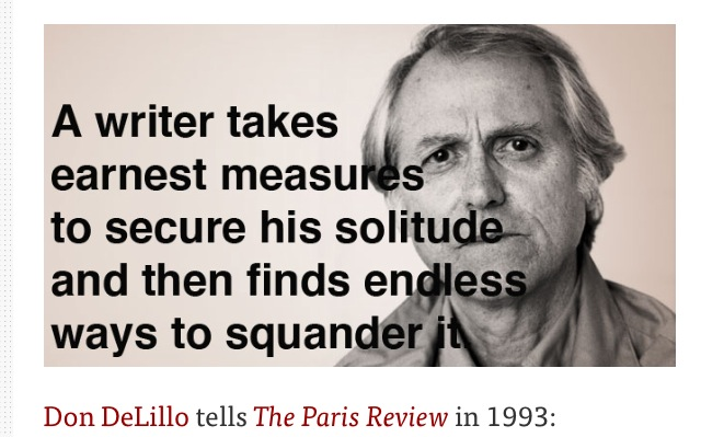 Don DeLillo Tells The Paris Review